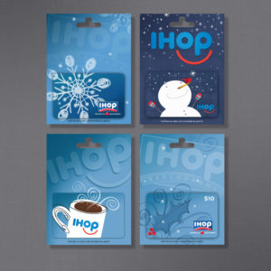 IHOP, DineEquity, Gift Card on Carrier, Partner B Design