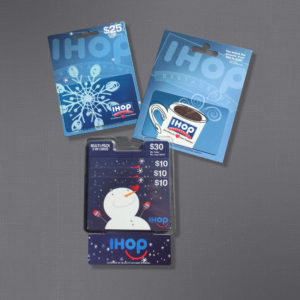 IHOP, DineEquity, Gift Card on Carrier, Printed, Partner B Design