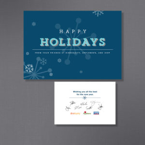 DineEquity, Holiday Card, Front / Inside, Partner B Design