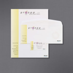 Peterson Law Firm, Proapp, Business Stationery