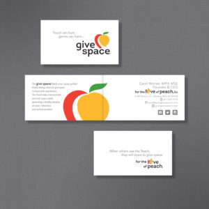 New Give Space, Business Card Design, Front / Inside / Back
