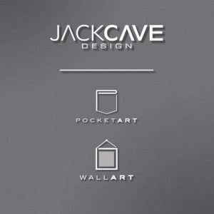 Redesign logo for Jack Cave Design, new logos for product lines under Jack Cave Design, Pocket Art and Wall Art.